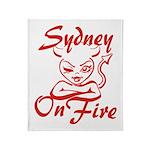 Sydney On Fire Throw Blanket
