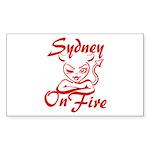 Sydney On Fire Sticker (Rectangle)