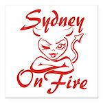 Sydney On Fire Square Car Magnet 3