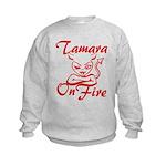 Tamara On Fire Kids Sweatshirt