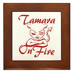 Tamara On Fire Framed Tile