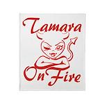 Tamara On Fire Throw Blanket