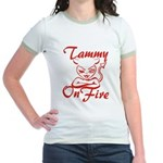 Tammy On Fire Jr. Ringer T-Shirt