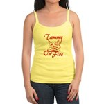 Tammy On Fire Jr. Spaghetti Tank