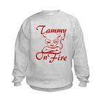Tammy On Fire Kids Sweatshirt