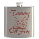 Tammy On Fire Flask
