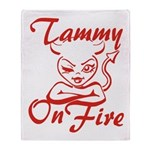 Tammy On Fire Throw Blanket