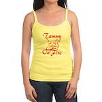 Tammy On Fire Jr. Spaghetti Tank