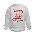 Tammy On Fire Kids Sweatshirt