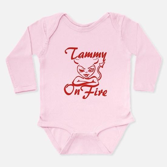 Tammy On Fire Long Sleeve Infant Bodysuit