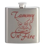 Tammy On Fire Flask
