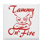 Tammy On Fire Tile Coaster
