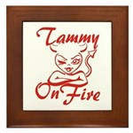 Tammy On Fire Framed Tile