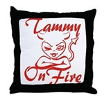 Tammy On Fire Throw Pillow