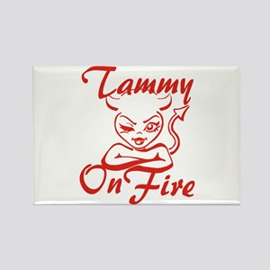 Tammy On Fire Rectangle Magnet