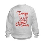 Tanya On Fire Kids Sweatshirt
