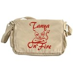 Tanya On Fire Messenger Bag