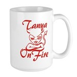 Tanya On Fire Large Mug