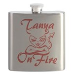 Tanya On Fire Flask