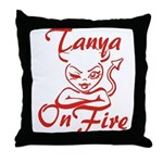 Tanya On Fire Throw Pillow