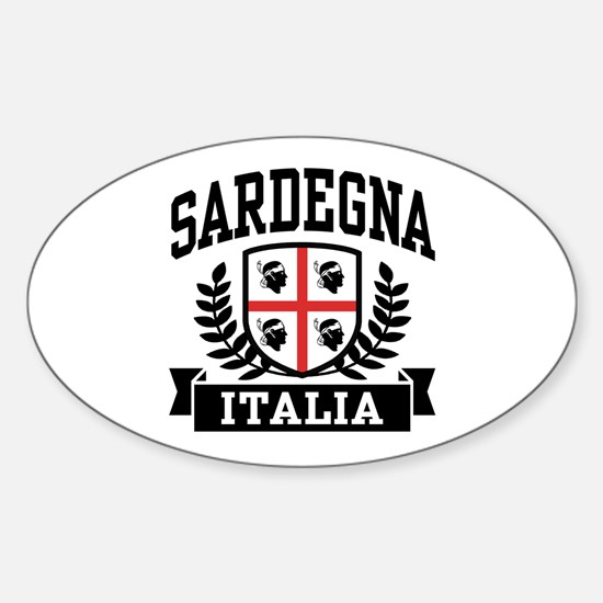 Sardegna Italia Sticker (Oval)