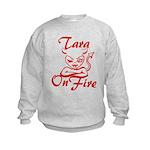 Tara On Fire Kids Sweatshirt