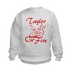 Taylor On Fire Kids Sweatshirt