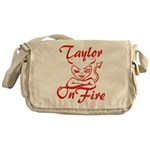 Taylor On Fire Messenger Bag