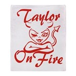 Taylor On Fire Throw Blanket