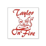 Taylor On Fire Square Sticker 3