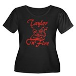 Taylor On Fire Women's Plus Size Scoop Neck Dark T