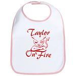 Taylor On Fire Bib
