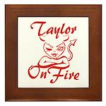 Taylor On Fire Framed Tile