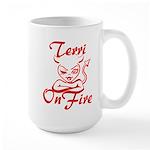Terri On Fire Large Mug