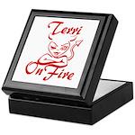 Terri On Fire Keepsake Box