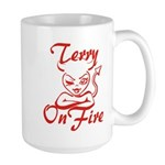Terry On Fire Large Mug