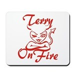 Terry On Fire Mousepad