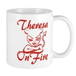 Theresa On Fire Mug