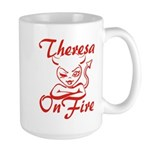 Theresa On Fire Large Mug