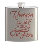 Theresa On Fire Flask