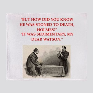 holmes joke Throw Blanket