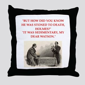 holmes joke Throw Pillow