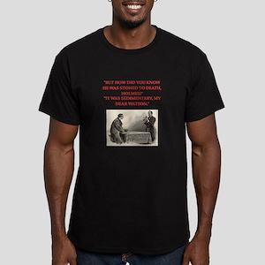 holmes joke Men's Fitted T-Shirt (dark)