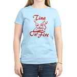 Tina On Fire Women's Light T-Shirt