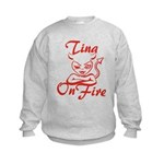 Tina On Fire Kids Sweatshirt