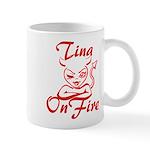Tina On Fire Mug