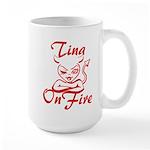 Tina On Fire Large Mug