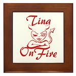 Tina On Fire Framed Tile