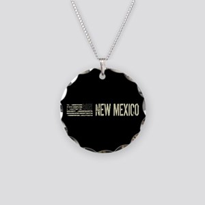 Black Flag: New Mexico Necklace Circle Charm