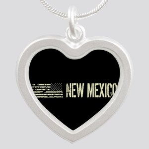Black Flag: New Mexico Silver Heart Necklace